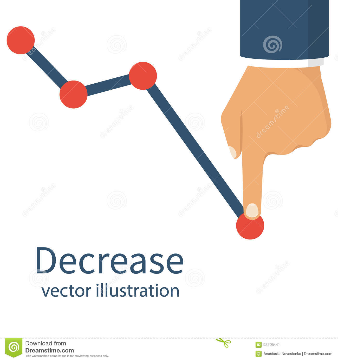 Decrease Graph Stock Illustrations.