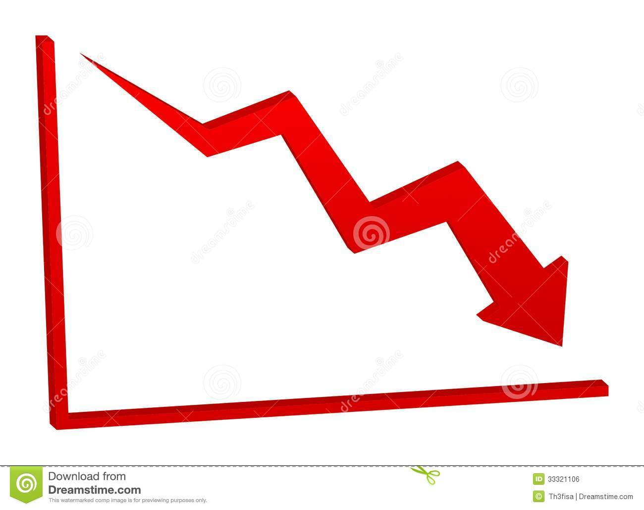 Decrease Chart Clipart.