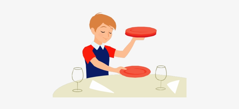 Set Table Clip Art Clipart Download Person Setting.