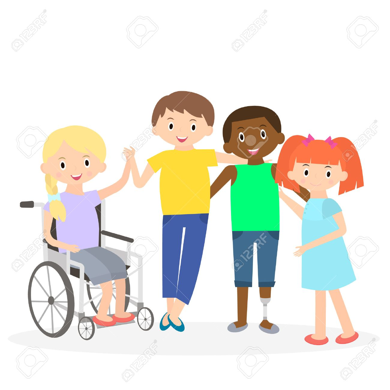 177 Disability Diversity Stock Vector Illustration And Royalty Free.