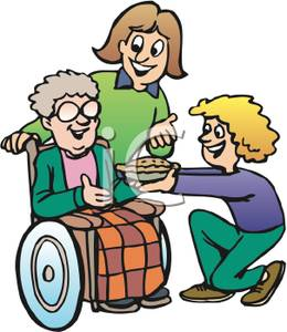 Disabled person clipart.