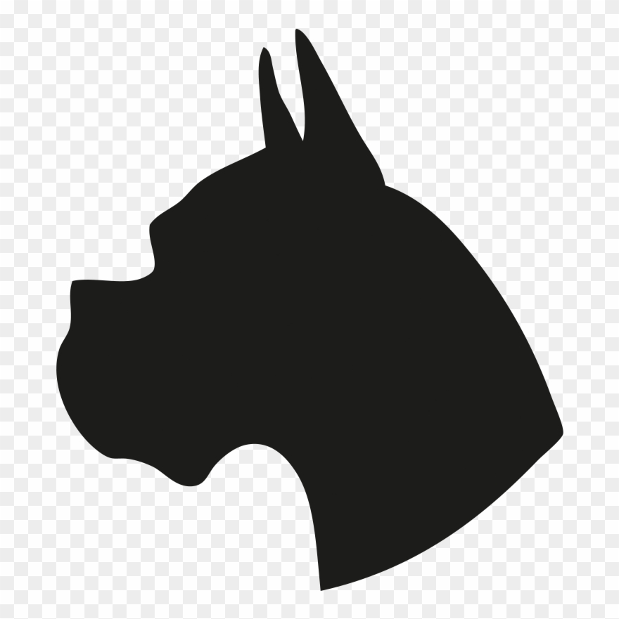 Silhouette Of A Dog Head Clipart (#1386292).