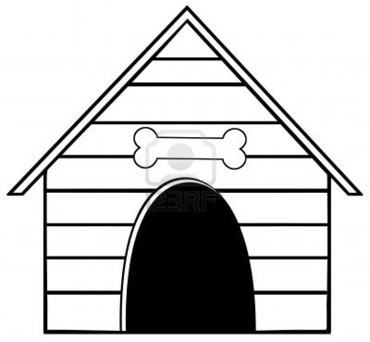 Dog House Clipart.