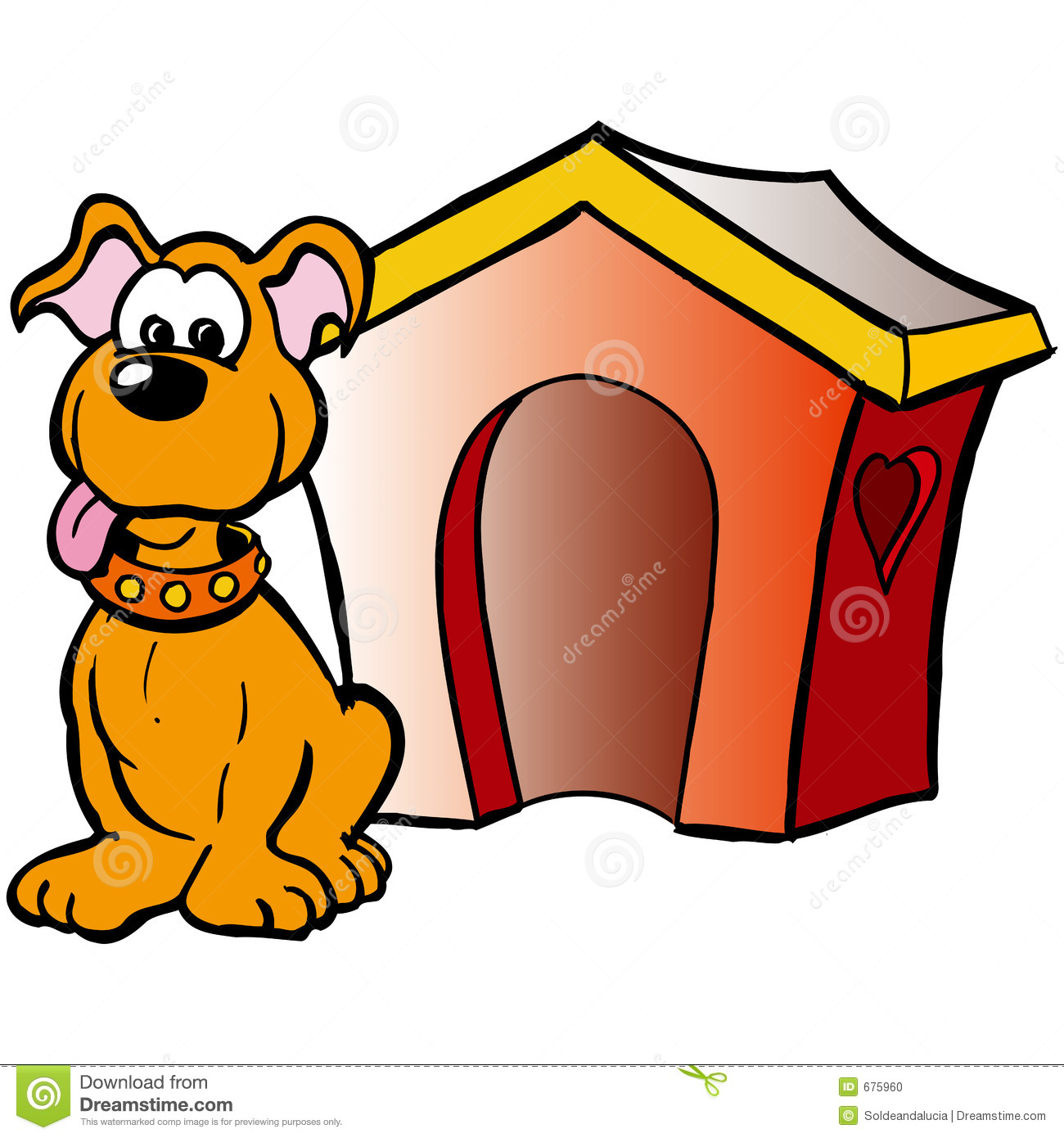 Dog In House Clipart.