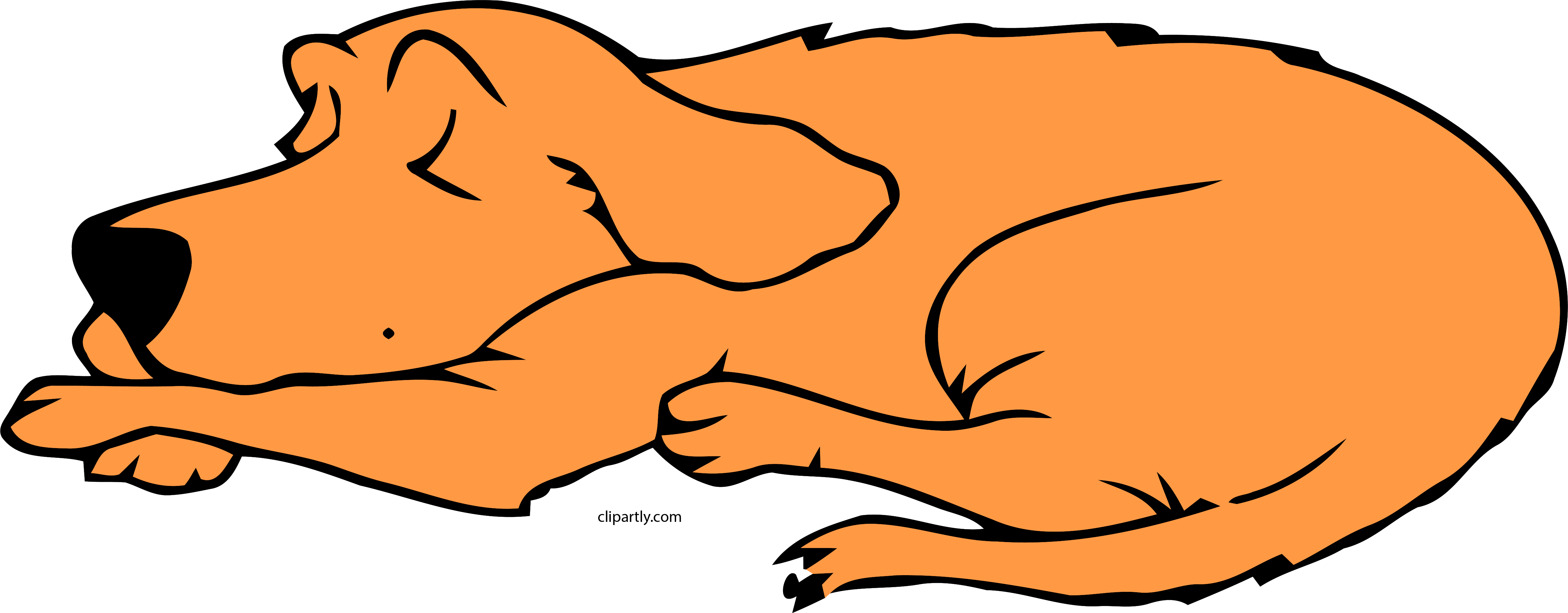 Dog Sleeping Peru Color Clipart Png.