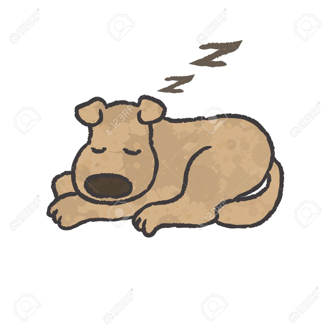 Dog sleeping clipart 9 » Clipart Station.