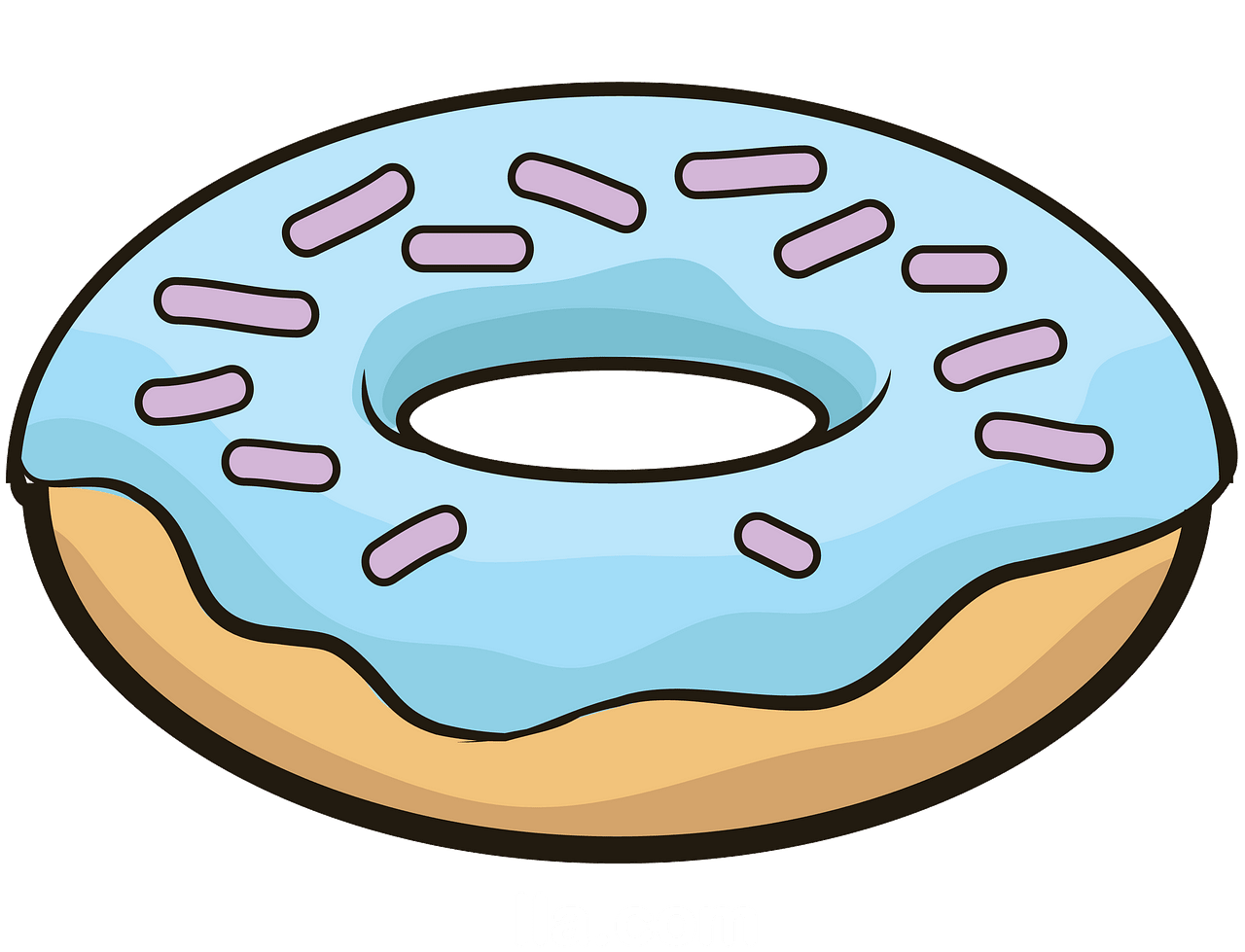 Donut clipart. Free download..