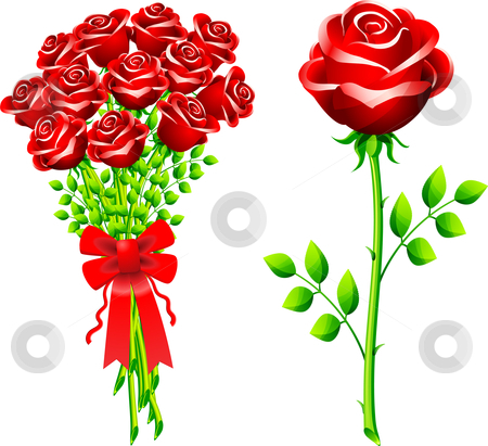 4697 Roses free clipart.