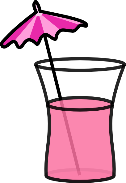 Drink At Beach Clipart.