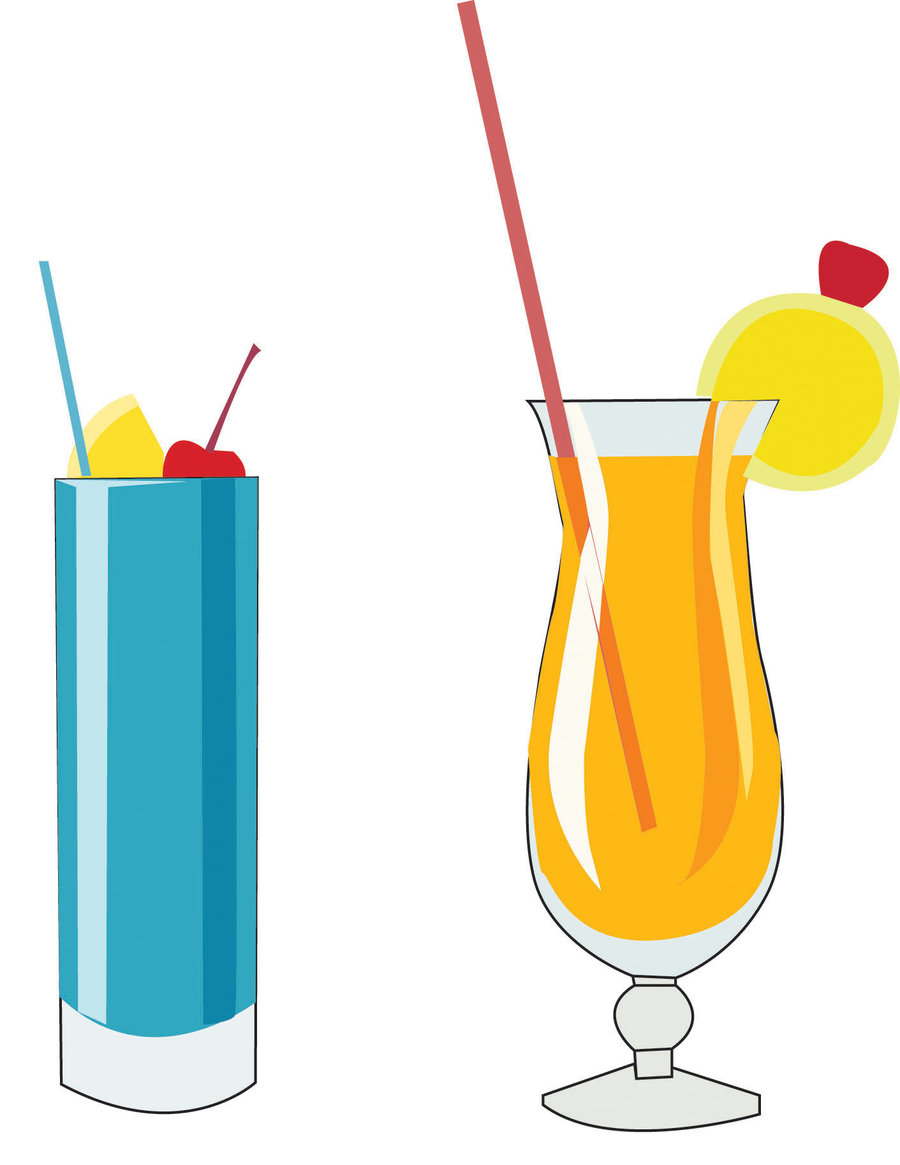 A drink on the beach clipart #13