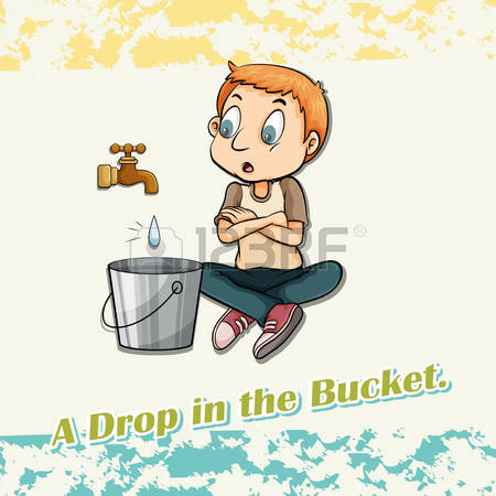 5,018 A Drop In The Bucket Stock Illustrations, Cliparts And.