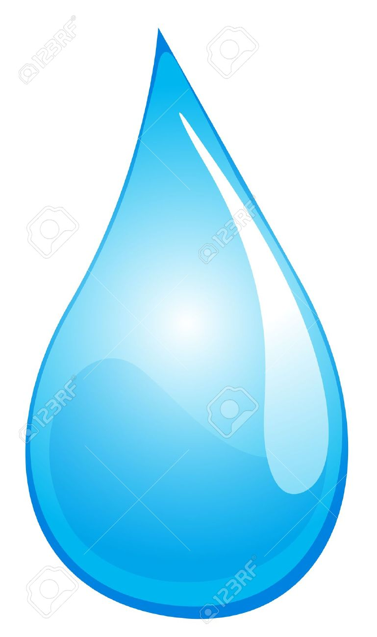 Illustration Of A Drop Of Water Royalty Free Cliparts, Vectors.
