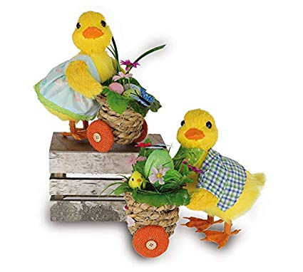 Amazon.com: burton+BURTON Easter Duck Couple with Carts.