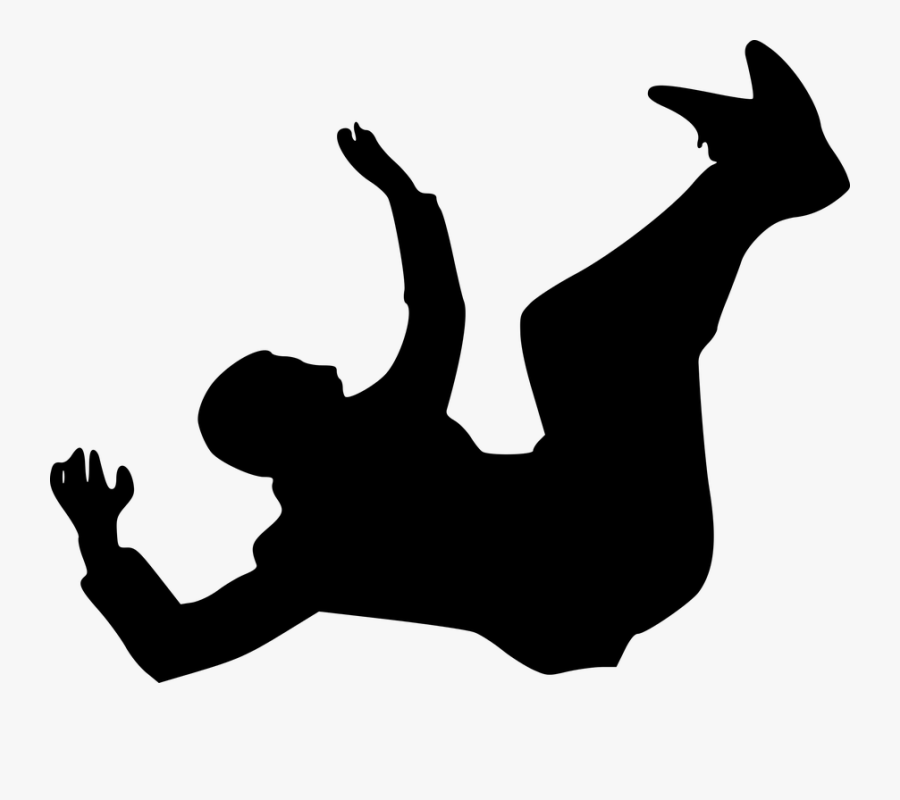 Person Falling Silhouette Png , Free Transparent Clipart.