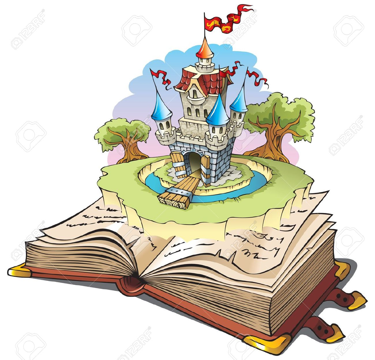 Animated fairy tale clipart.