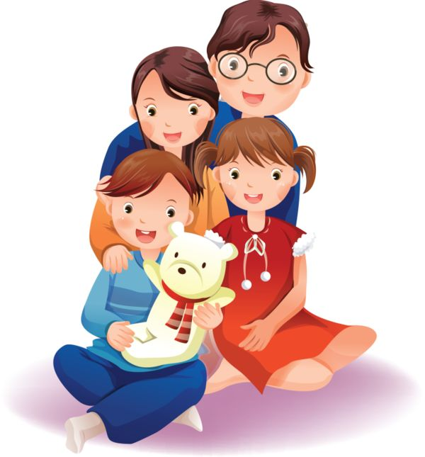 A family of 4 clipart clipartxtras.