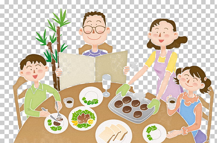 Eating Food Meal , Family breakfast PNG clipart.