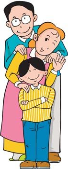 Family Of 3 Clipart.