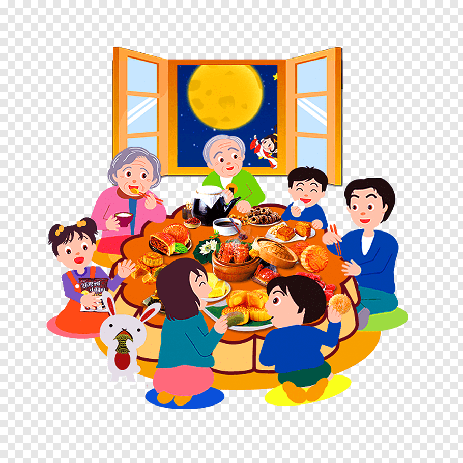 Family Dinner cutout PNG & clipart images.