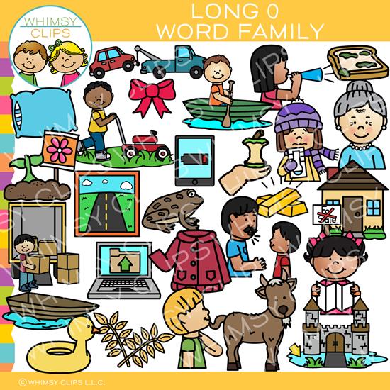 Long O Word Family Clip Art.