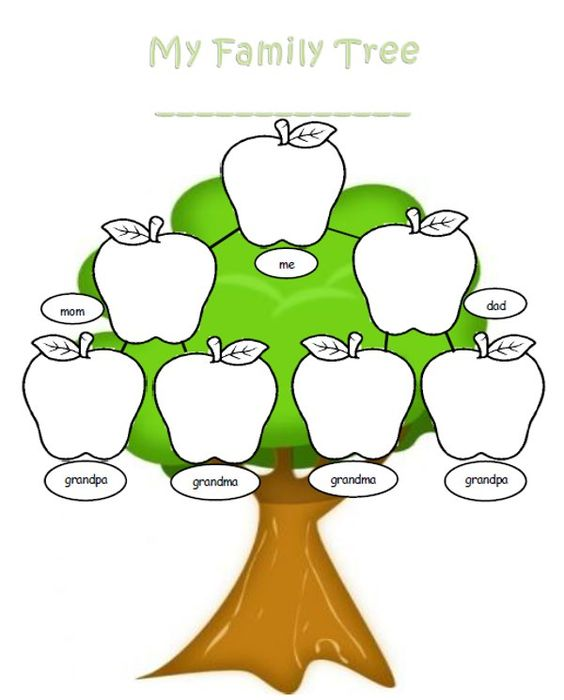 Family tree template word.
