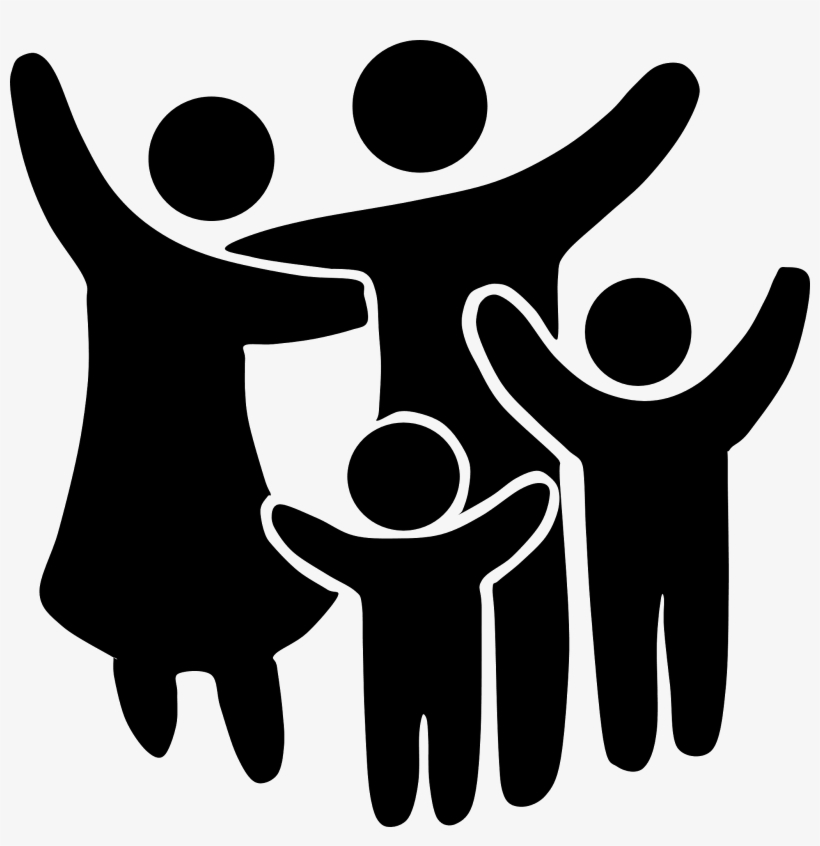 Family Clipart Black And White.