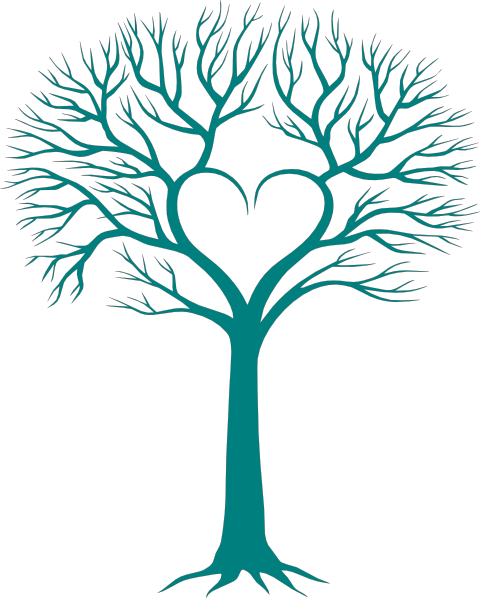 Family Tree with Heart Clip Art..