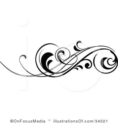 Fancy scroll clip art.