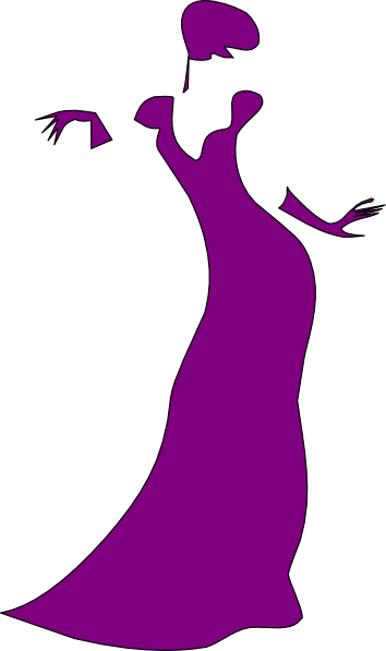 Fancy Lady Clipart.