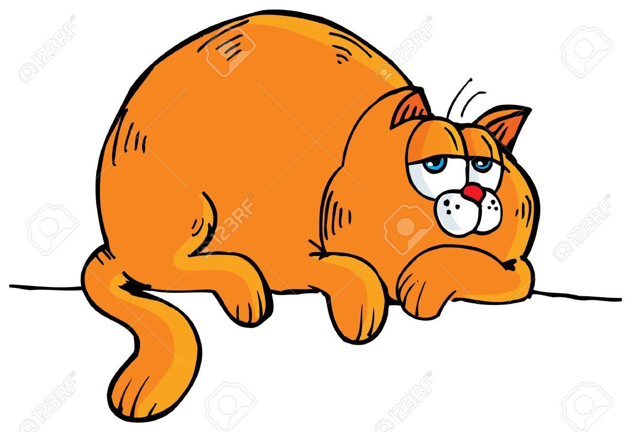 Clipart Of A Fat Cat.