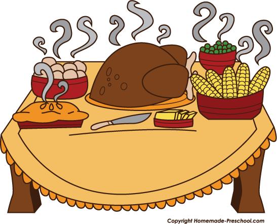 Thanksgiving Feast Clipart.