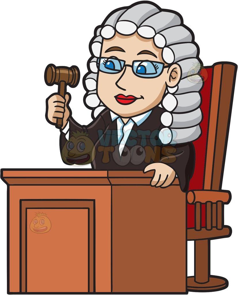 Woman Judge Clipart.