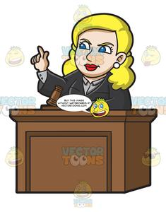 A Female Judge Ordering The Court.
