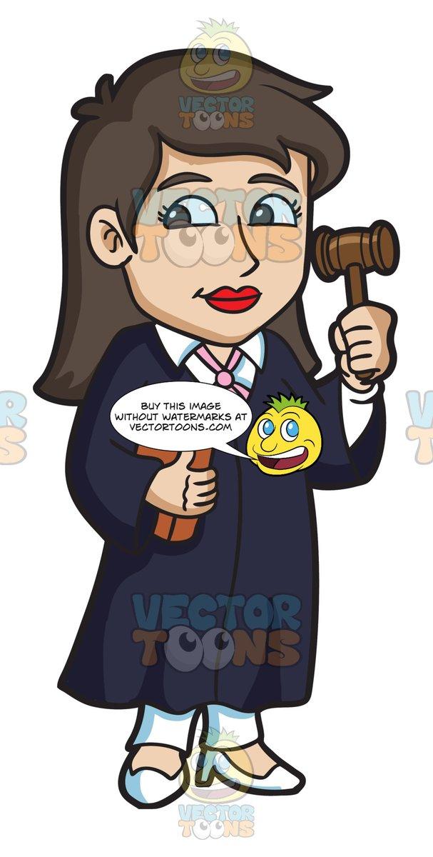 A Female Judge Holding A Gavel.