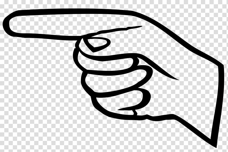 Point Index finger , pointing transparent background PNG.