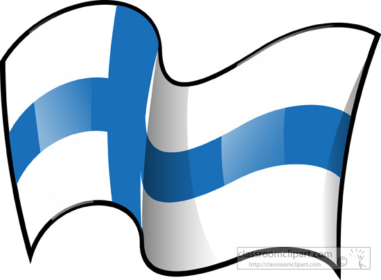 Free clipart finnish flag.