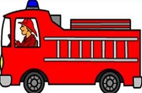 Powerpoint prepare fire truck clipart.