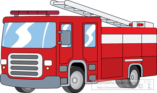 Clipart of a fire truck.