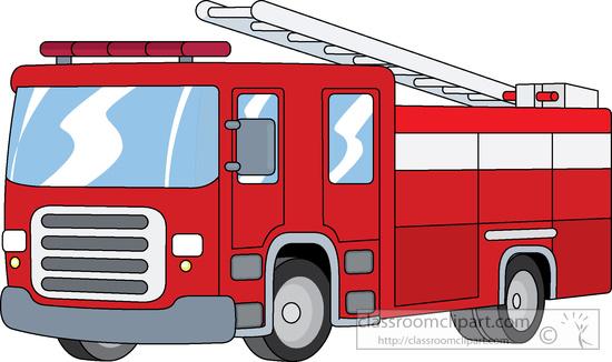 Clipart of a fire truck.