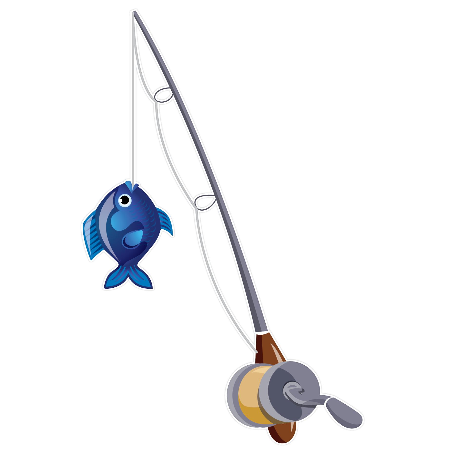 418 Fishing Rod free clipart.