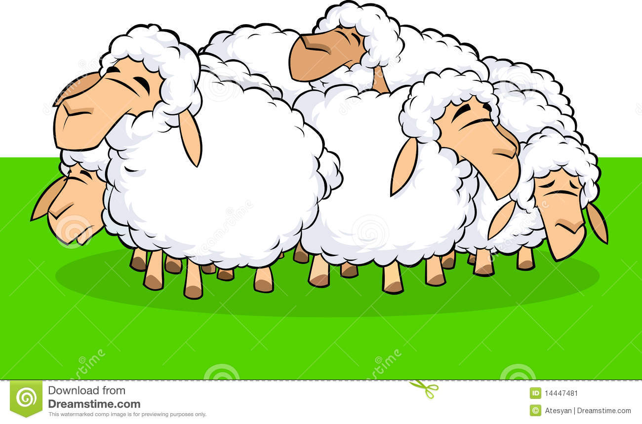 Flock of sheep clipart 4 » Clipart Station.