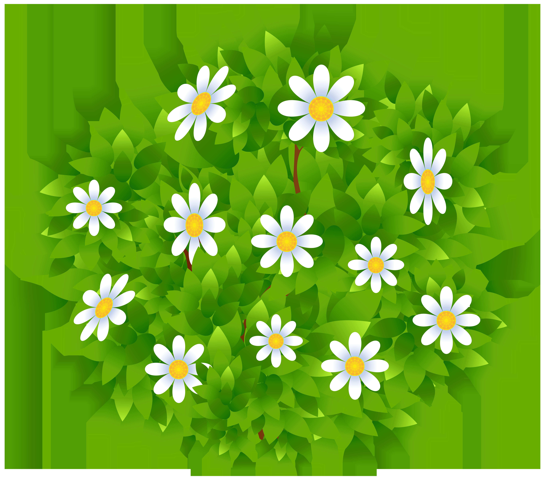 Flowers Bush Transparent PNG Clip Art Image.