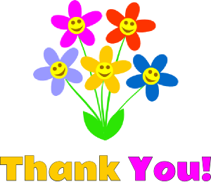 Flower Thank You Clipart.