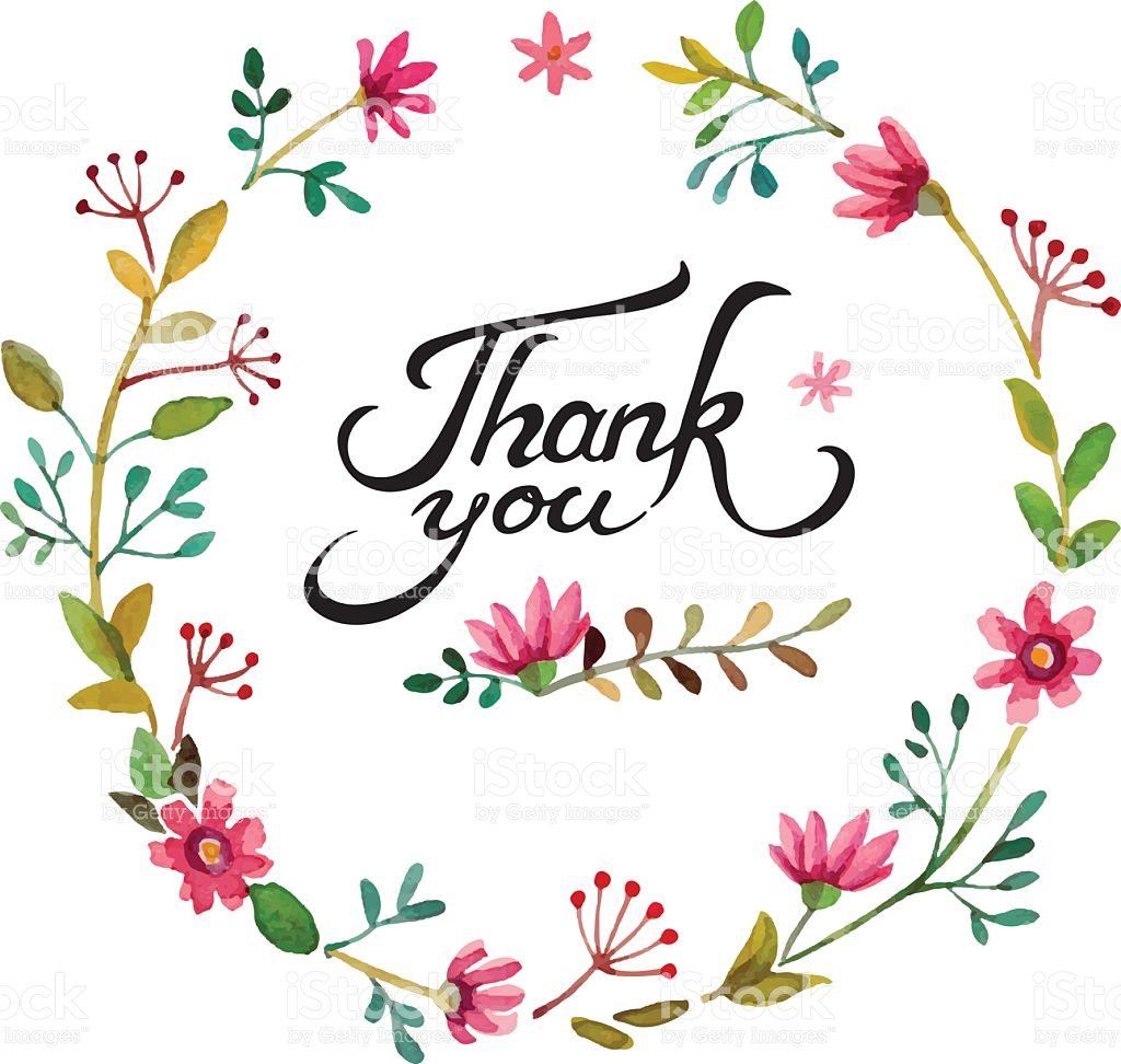 Free Clipart of Thank You Flowers.