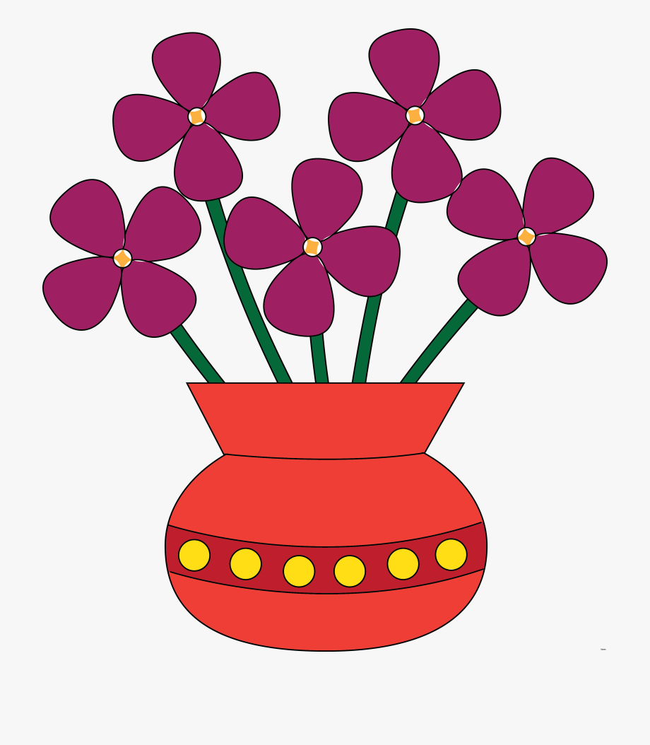 Flowers In A Vase Clipart , Transparent Cartoon, Free.