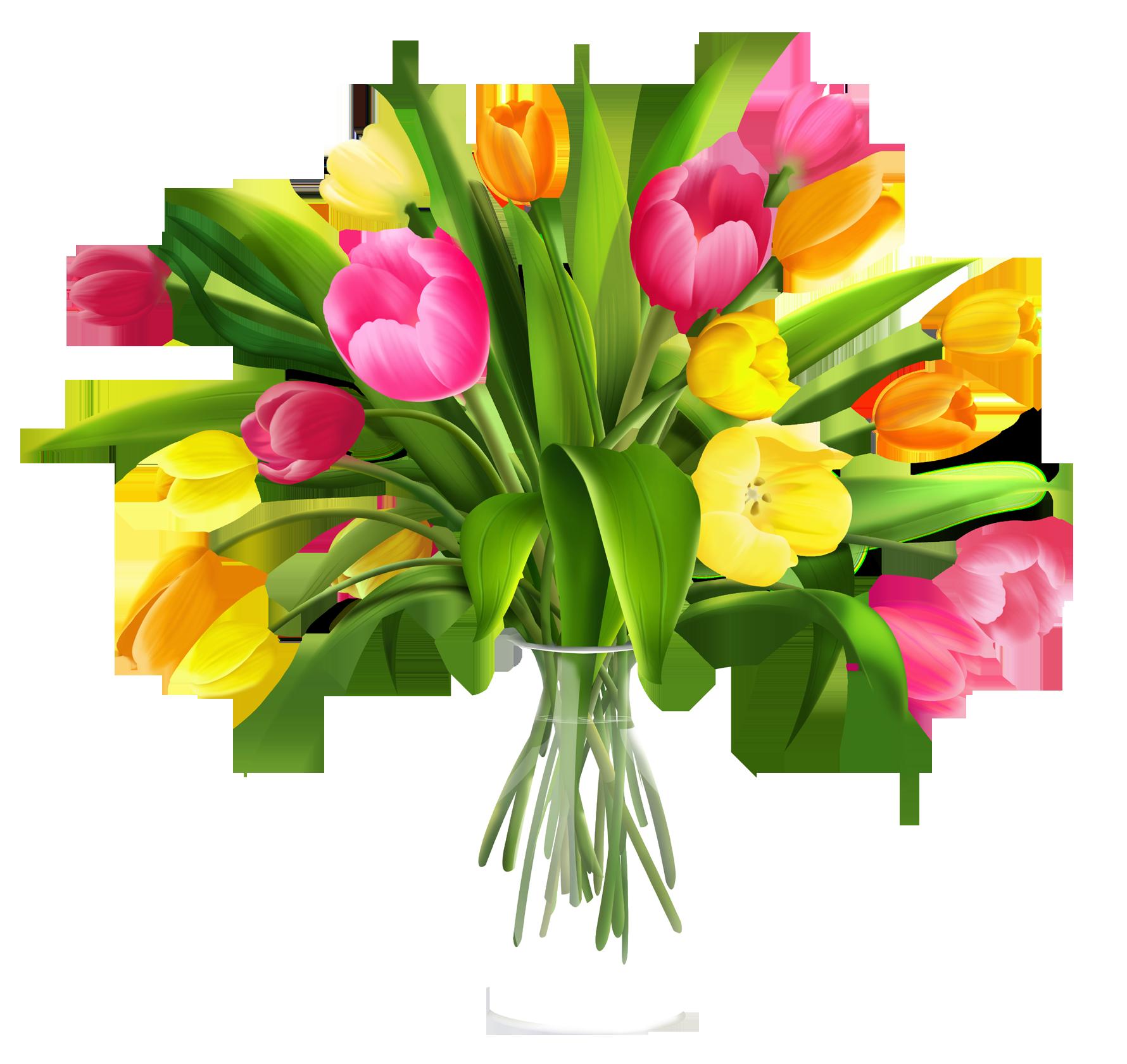 Free Clip Art Flowers in Vase.