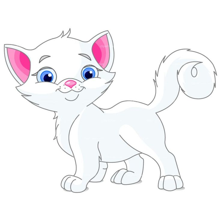 White cat clipart 2 » Clipart Station.
