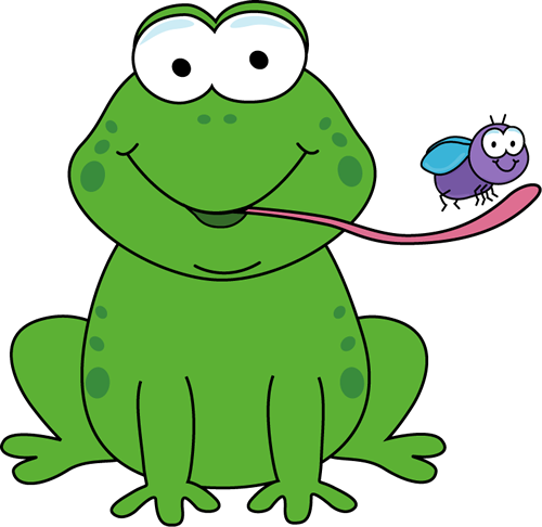 Frog Eating a Fly Clip Art.