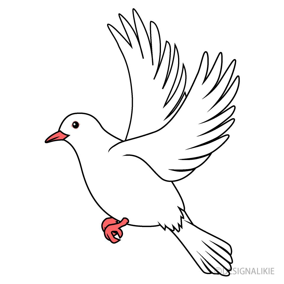 Free Flying Dove Clipart Image|Illustoon.