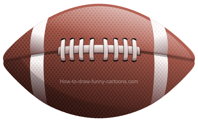 How to draw a football clip art.